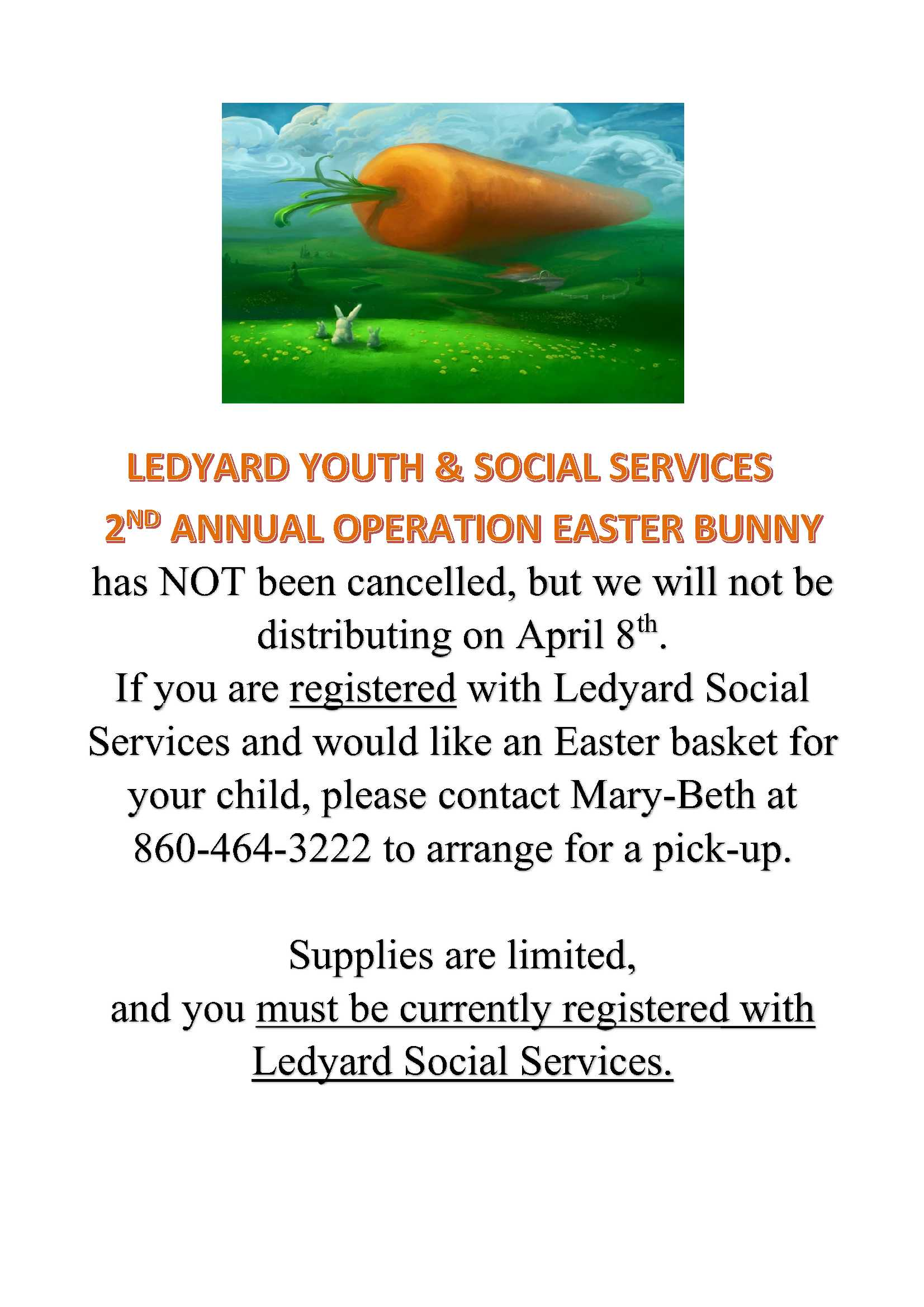 Operation Easter Bunny flyer 2020
